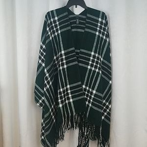 Forever 21 Green Plaid Wrap One Size